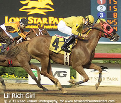 LIL RICH GIRL Wins at Lone Star