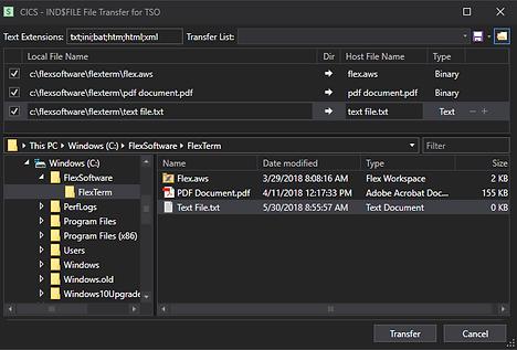 FlexTerm File Transfer