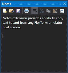 FlexTerm Notes Extension
