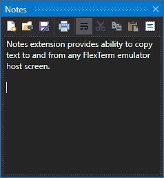 FlexTerm Notes Extension
