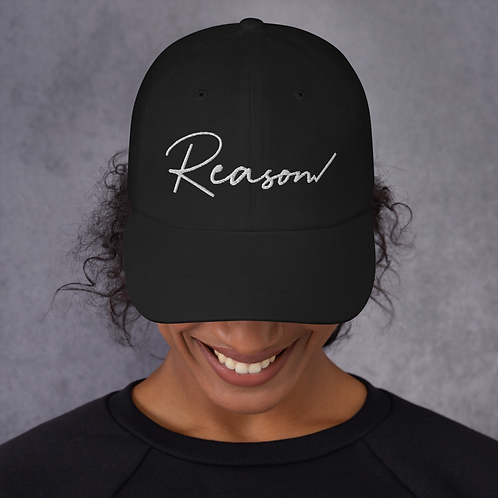 Reason Dad hat (White Text)
