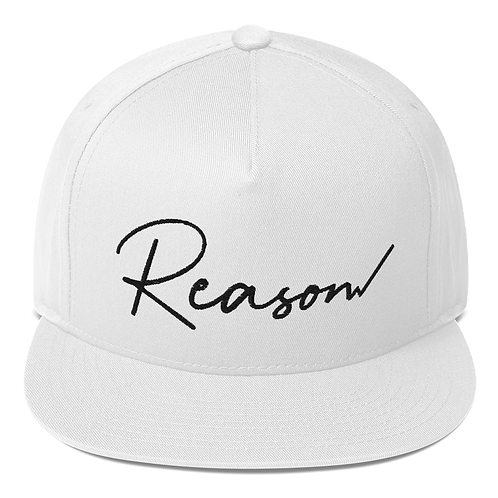 Reason Snapback (Black Text)