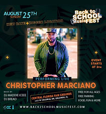 Christopher Marciano Live At Back To School Fest Orlando