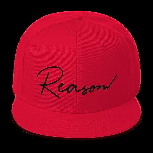 Reason Snapback (Black Text) - Grey Undervisor