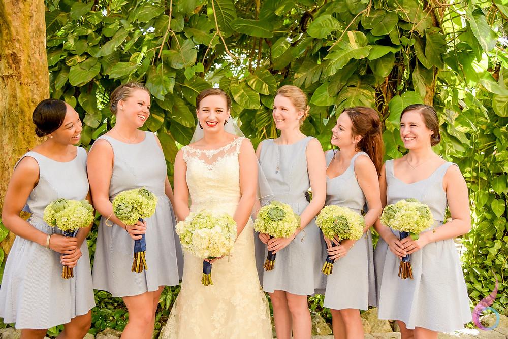 Bride, Bridesmaid, Dress, Bouquet, Shoes, Something Blue