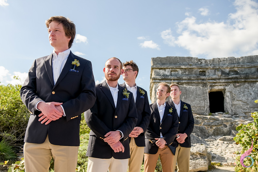 Best Man,Bridal Party, Xcaret Wedding, Xcaret Destination