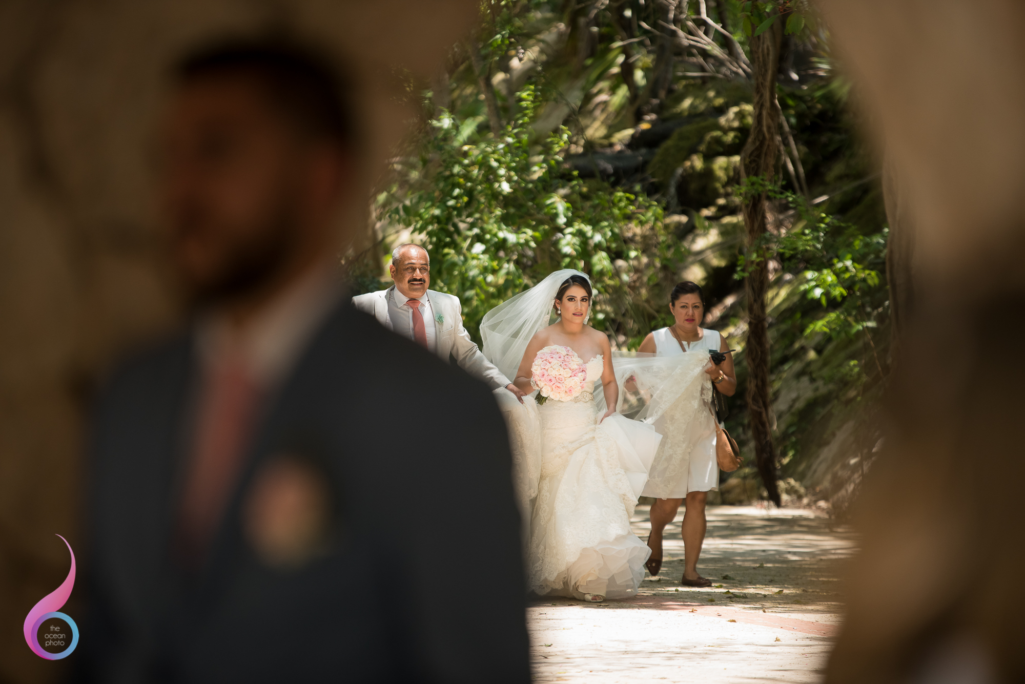 Wedding First look Xcaret Photo