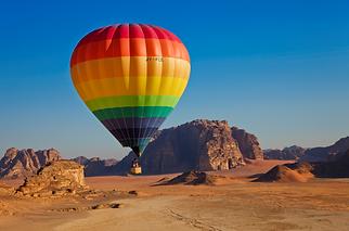 Wadi Rum Hot Air Balloon Jordan Tourism.