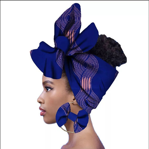 Tiana Headwrap + Earrings