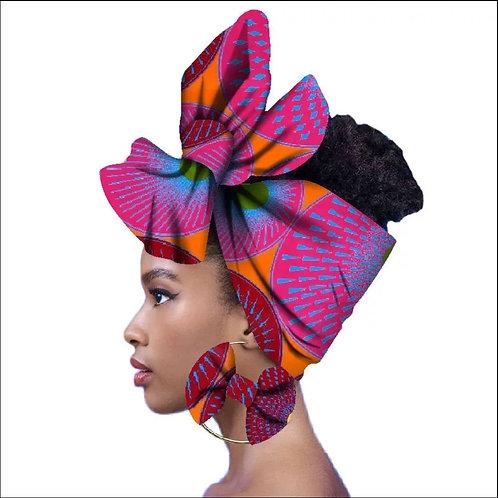 Monique Headwrap + Earrings