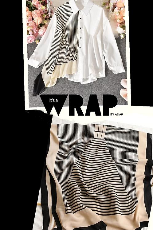 Wrap shirt (white)+Head Wrap scarf
