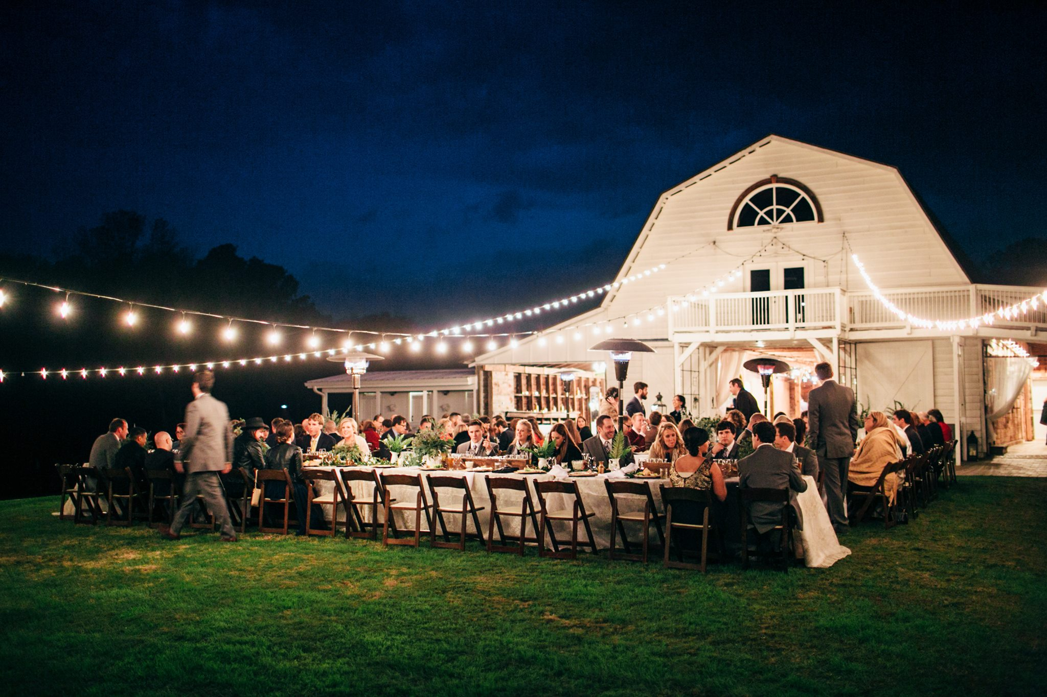 Enchanting outdoor reception