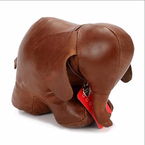Premium Leather Elephant Doorstop