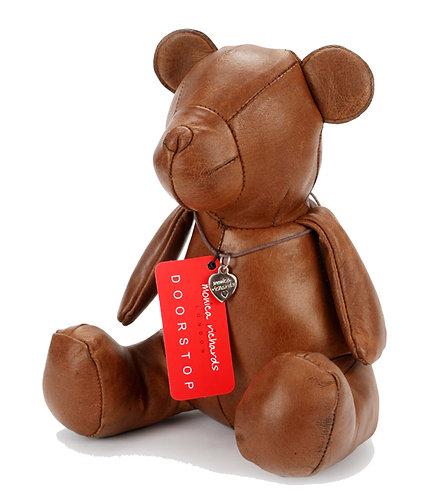 Premium Leather Teddy Bear Doorstop