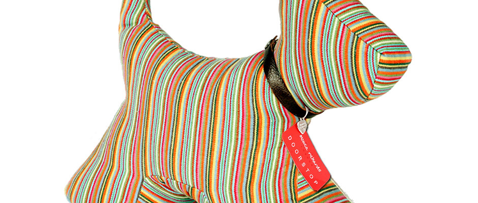 Dog Doorstop Candy Stripe