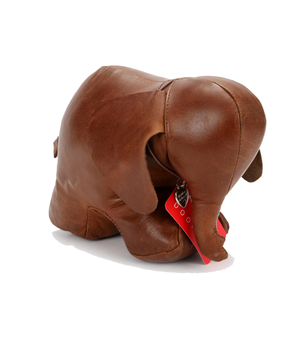 Doorstop Leather Elephant LDSEL
