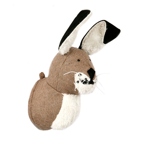 Mini Grey Hare Wall Head