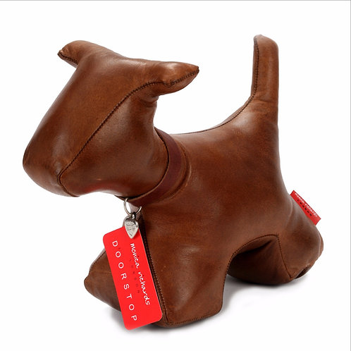 Premium Leather Dog Doorstop
