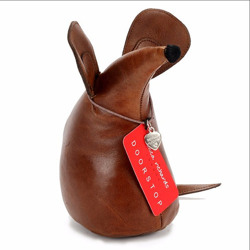 Premium Leather Mouse Doorstop