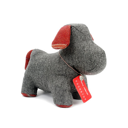Little Dog Doorstop Herringbone