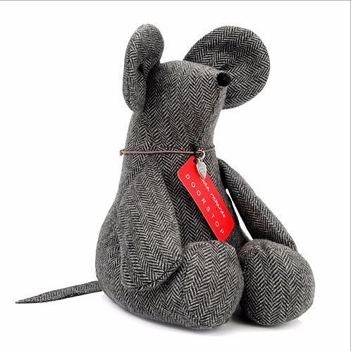 Sitting Mouse Herringbone Doorstop