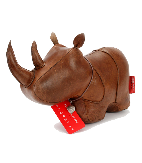 Doorstop Leather Rhino LDSRH