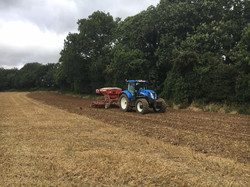 Tractor drilling