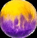 Watercolour purple and yellow circle