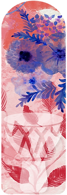 Watercolour flowers and djembe drum