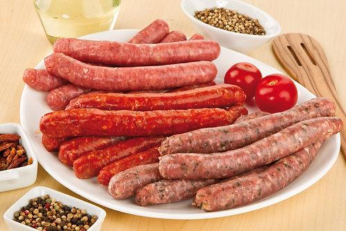 Colis assortiment de saucisse 3 kg 36€