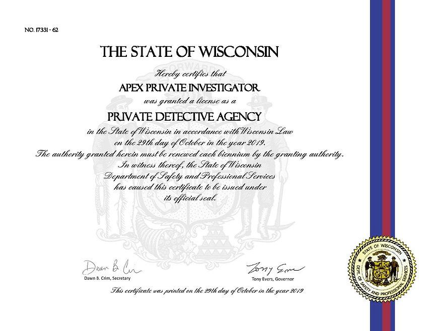 State Certificate