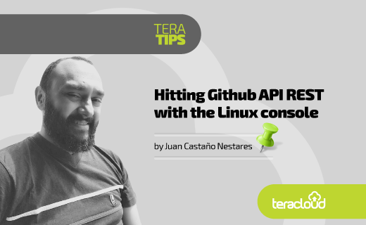 Hitting Github API REST with the Linux console