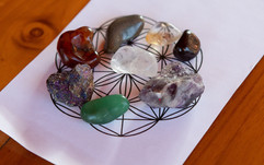 Client's finished product at Amora's Crystal Grid Workshop