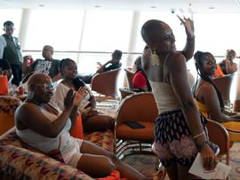 Amora leading a Women's Workshop | FemmeFest Cruise