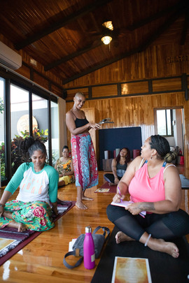 Amora leading an Energy Healing Workshop | Costa Rica