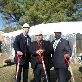 Russell Gilbert Chattanooga Mayor 2021 at Cromwell Groundbreaking