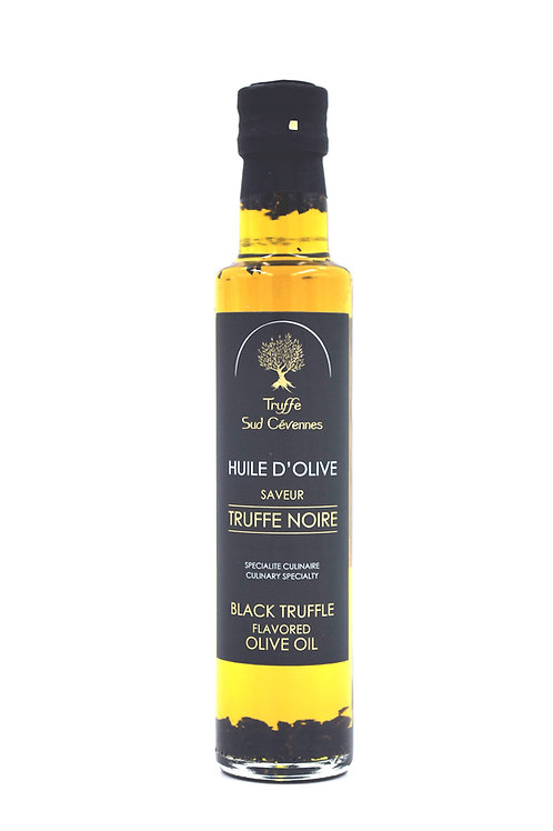 Huile d'olive vierge extra arôme truffe noire 25 cl.