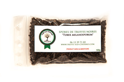 Spores de truffes noires Tuber Melanosporum 20gr vue de face.