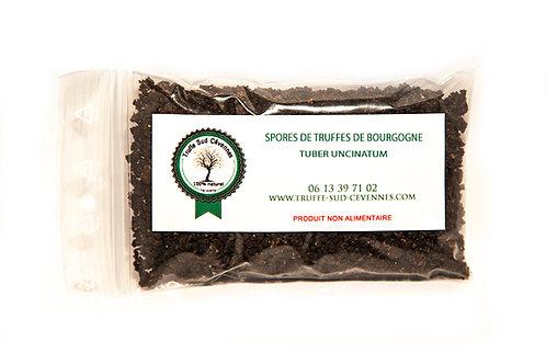 Spores de Truffes de Bourgogne, Sachet de 20 gr vue de face.