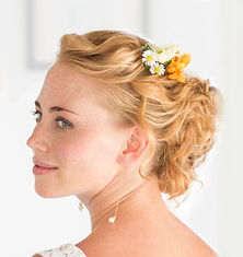 Bridal Hair do with flowers and hair extension