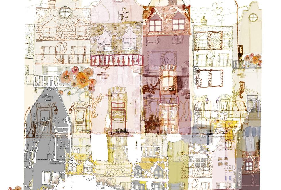Førerkort 40×50 akvarell| paperdollart