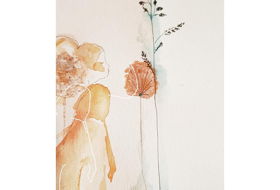 Akvarell og strek