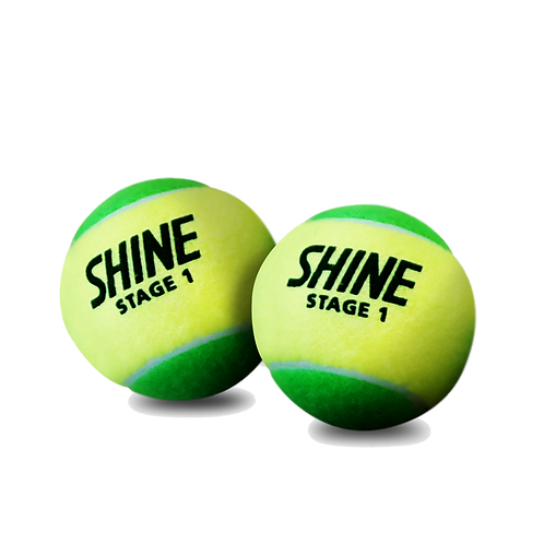 Shine Green 6PK Tennis Balls