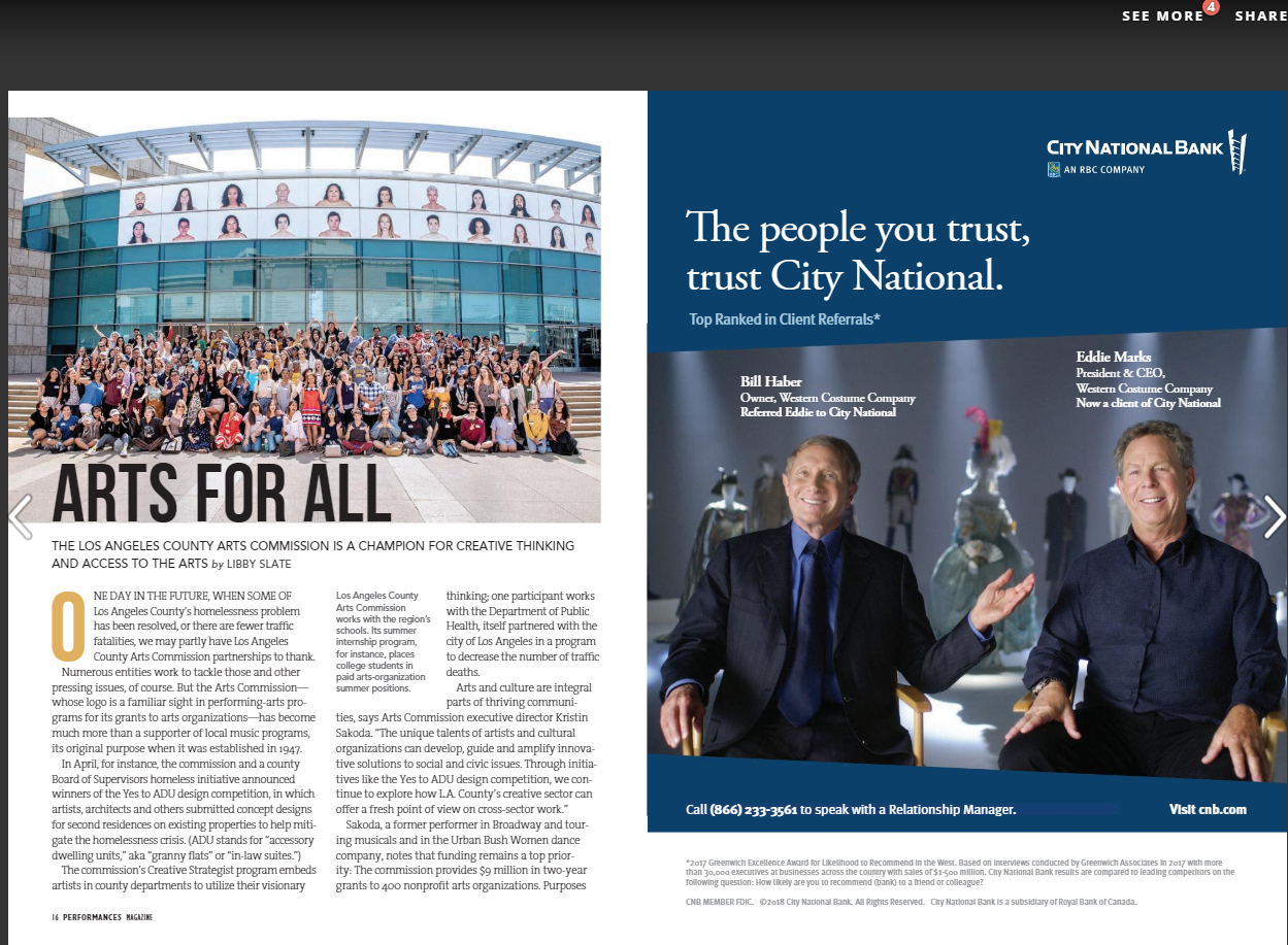 Arts For All article pg.49