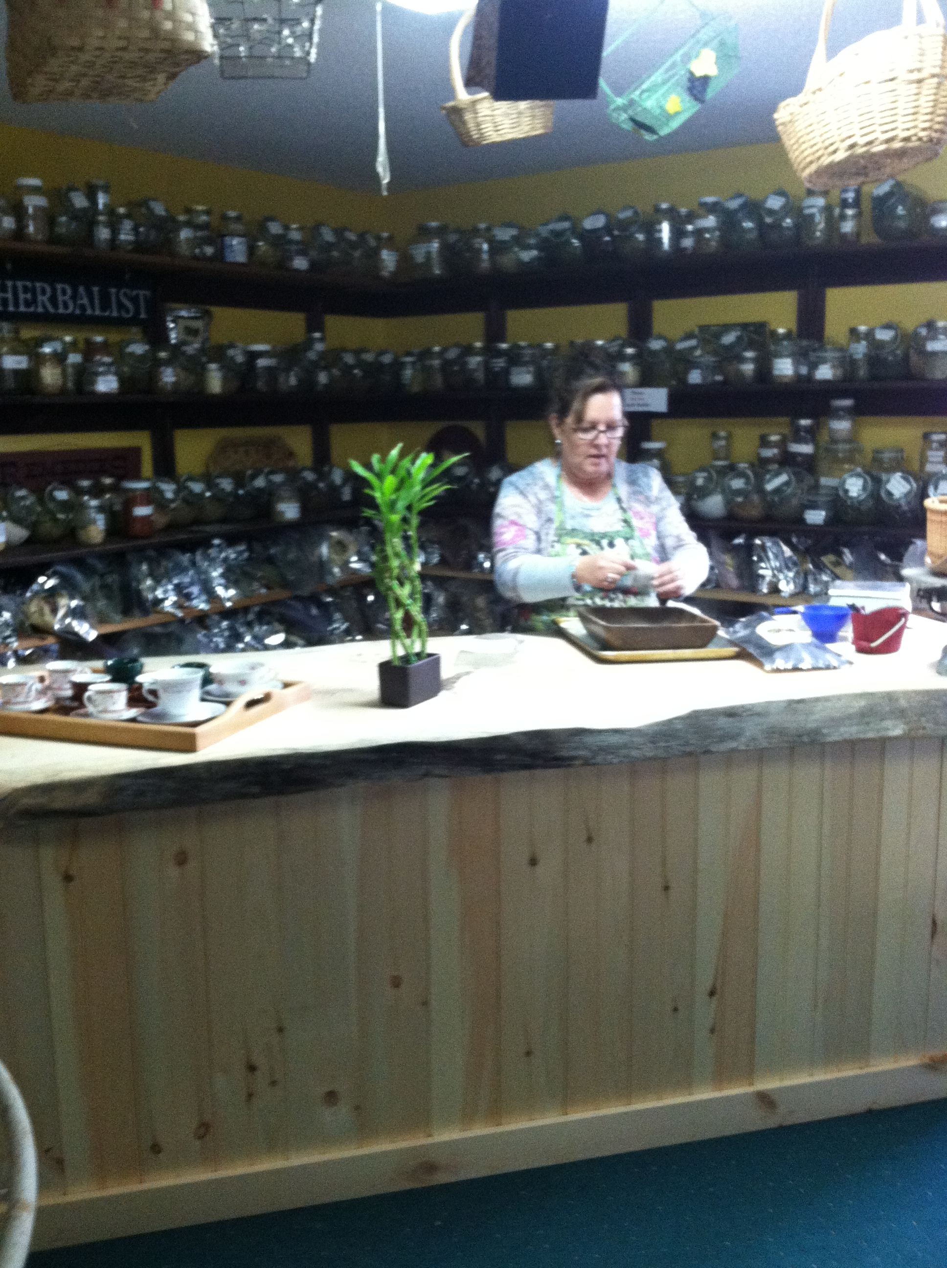 Gail.....Mixing Herbs....