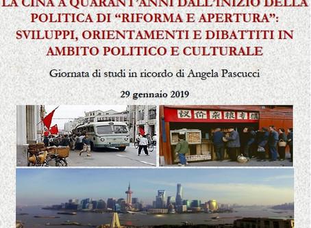 Roma, 29 gennaio: giornata di studi in ricordo di Angela Pascucci