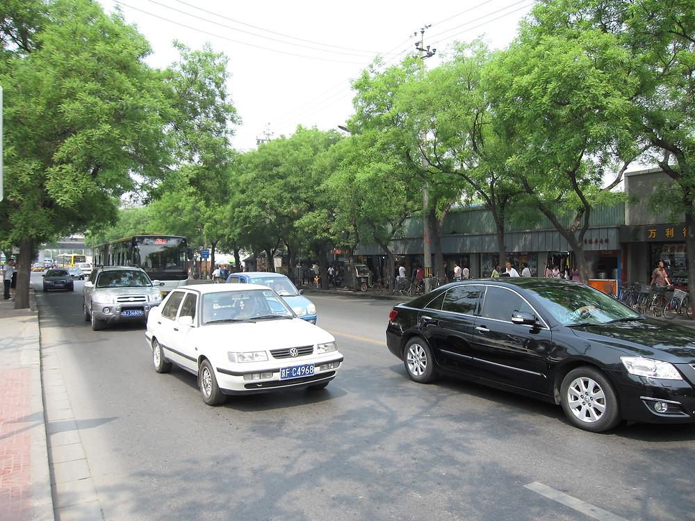 Immagine del viale di Xinjiekou, come era allora, nel punto esatto in cui arrivò Angela in quel lontano 2006, foto di Francesco Parodi