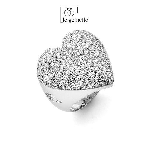 Anello Cuore Prezioso - Diamanti