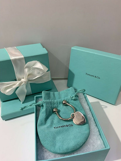 Tiffany and Co. Sterling Silver Heart Tag Key Ring