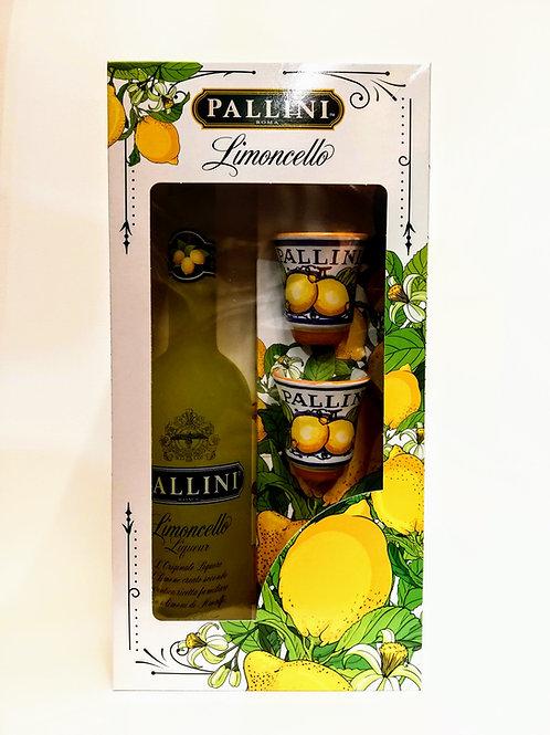 Limoncello Pack - Pallini 50 cl + 2 cups